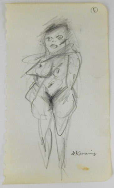 Willem De Kooning (1904-1997) Graphite Sketch