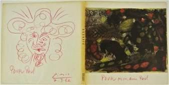 Pablo Picasso 18811973 Colored Pencil Sketch