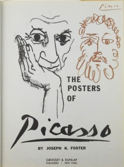Pablo Picasso Signed Crayon Book Drawing
