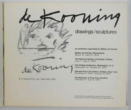 Willem De Kooning Signed Exhibition Catalog