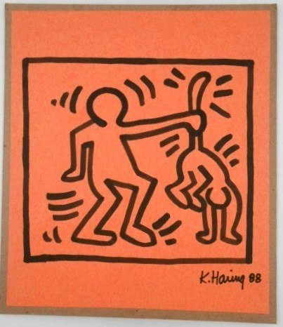 Keith Haring (1958-1990) Ink Sketch