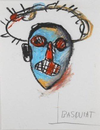 Jean-Michel Basquiat (1960-1988) Oilstick Drawing
