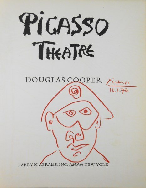 Pablo Picasso Drawing On Book Title Page