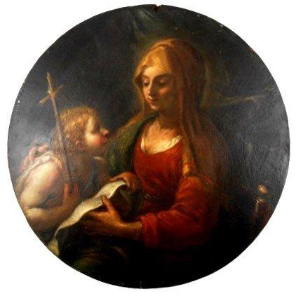Virgin With John The Baptist, Old Master