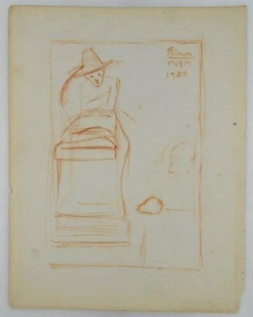 Pablo Picasso (1881-1973) Sanguine Drawing