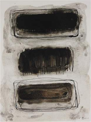 Mark Rothko (1903-1970) Pen & Ink With Wash