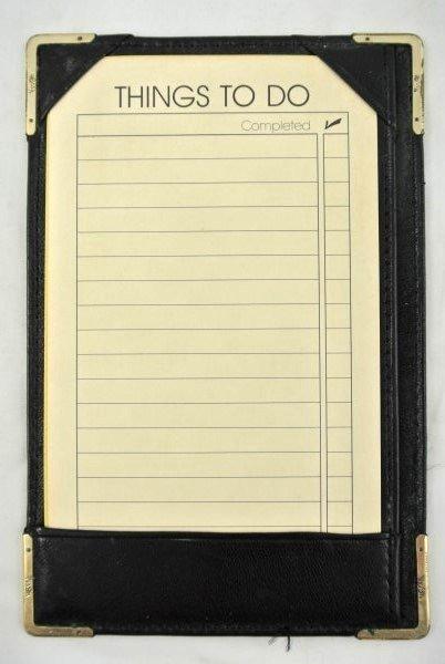 Vintage Leather Billfold With 14KT Gold Trim - 4