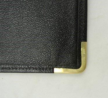 Vintage Leather Billfold With 14KT Gold Trim - 5