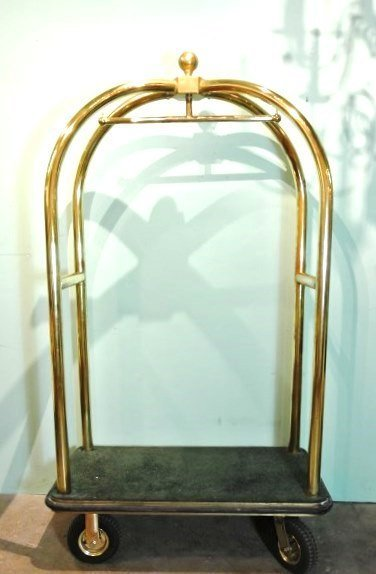 Forbes Birdcage Brass Luggage Cart