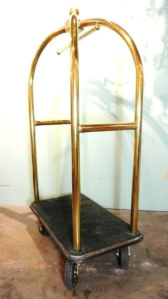 Forbes Birdcage Brass Luggage Cart - 2