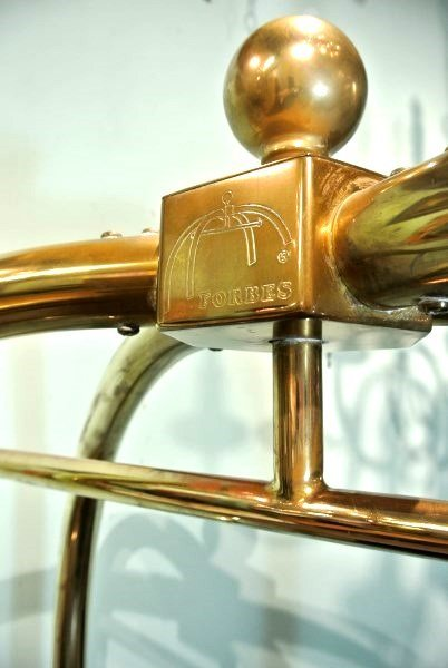 Forbes Birdcage Brass Luggage Cart - 4