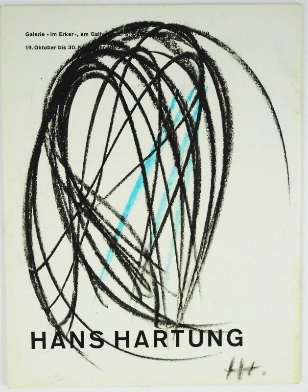 Hans Hartung (1904-1989) Oil Stick Drawing