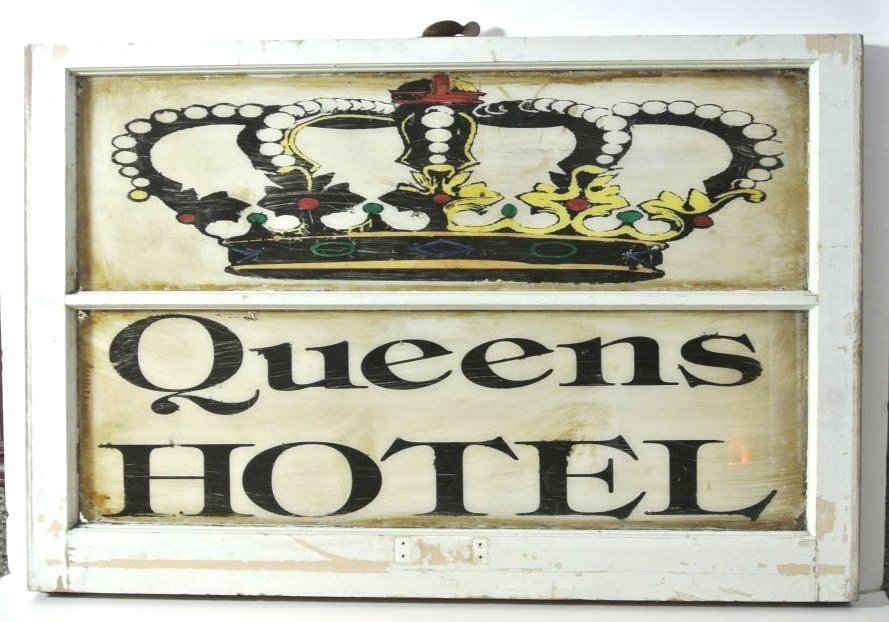 Vintage Queens Hotel Window