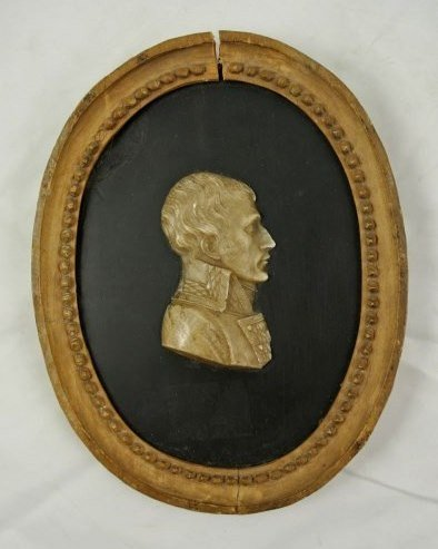 Napoleon Wax Portrait, Early 19th Century