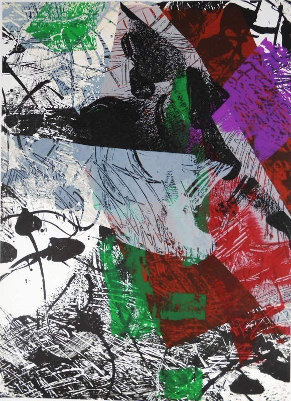 Jean-Paul Riopelle (1923-2002) Color Lithograph