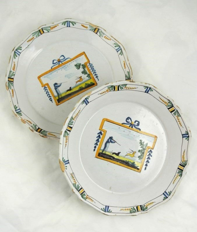 French Faience Plates, 18th Century