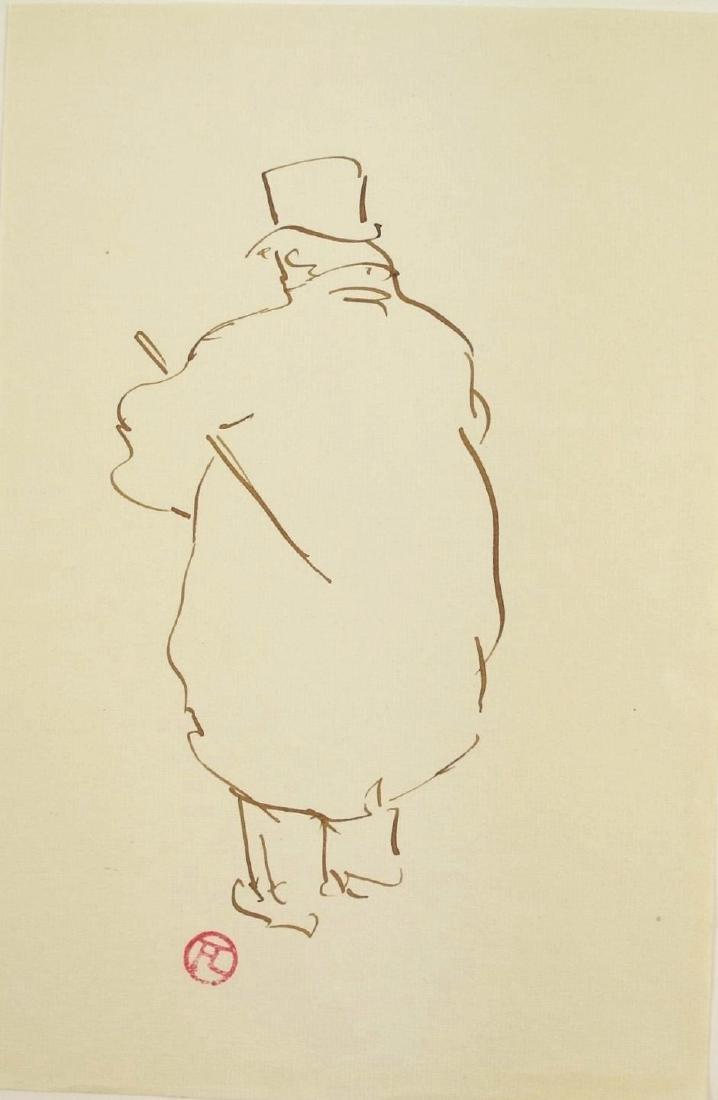 Henri De Toulouse-Lautrec (1864-1901) Ink Drawing