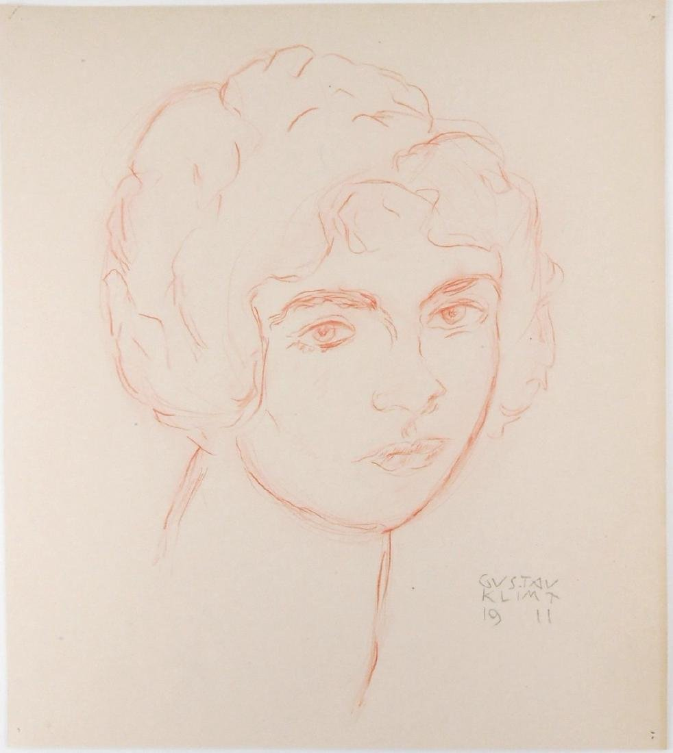 Gustav Klimt (1862-1918) Red Pencil Drawing