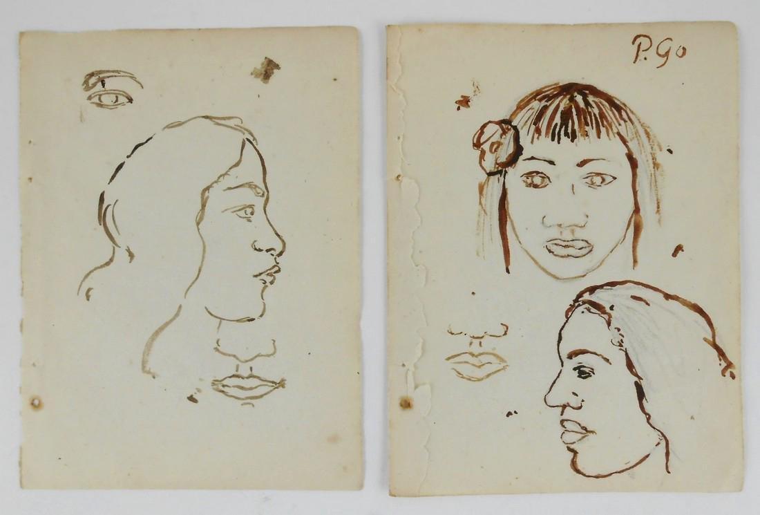 Paul Gauguin (1848-1903) Sketchbook Drawings (2)