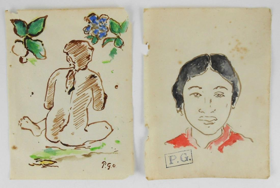 Paul Gauguin (1848-1903) Sketchbook Drawings (2)