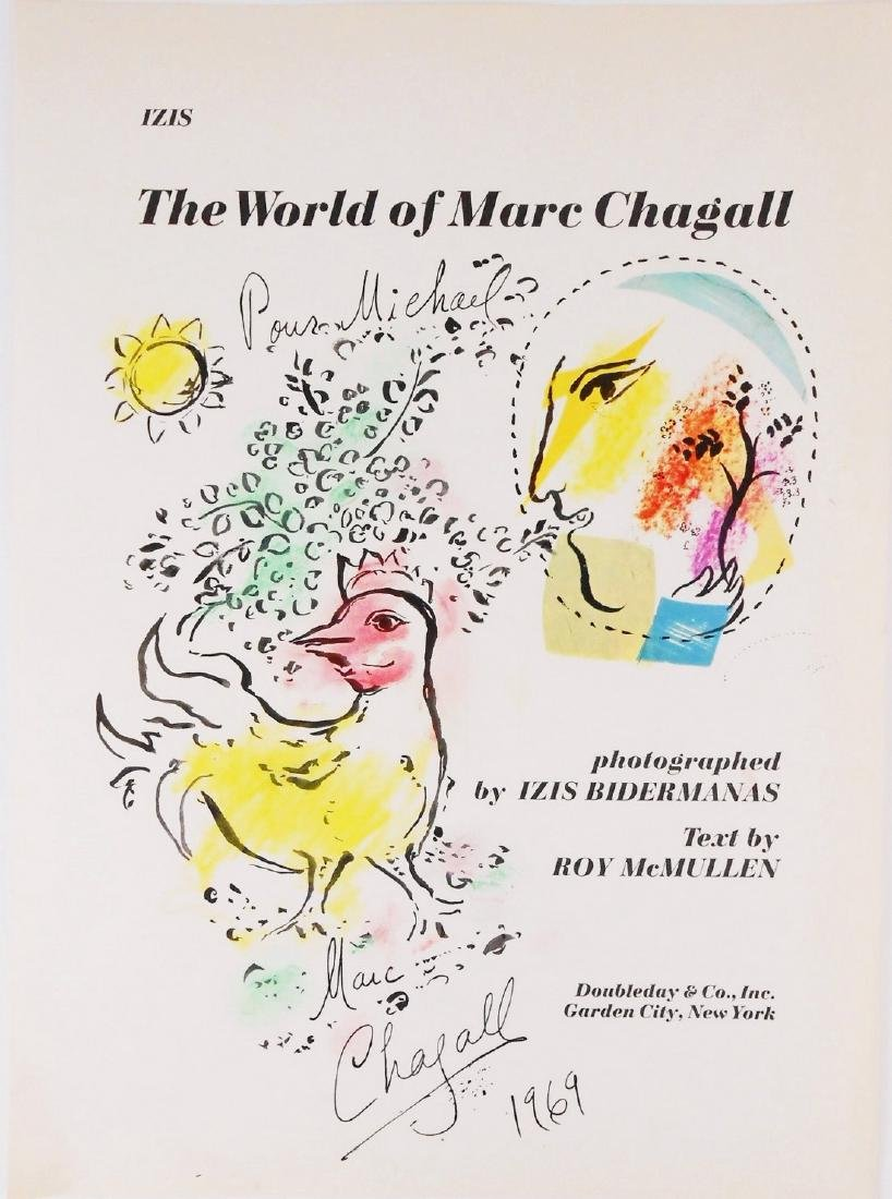 Marc Chagall (1887-1985) Souvenir Book Drawing
