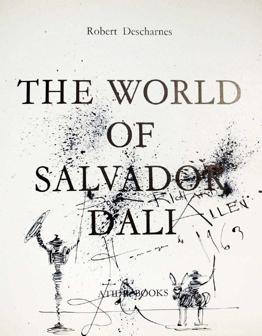Salvador Dali (1904-1989) Book & Drawing