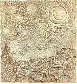 Vincent Van Gogh (1853-1890) Pen & Ink Study