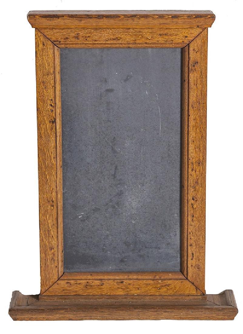 1920's Oak and slate chalkboard.