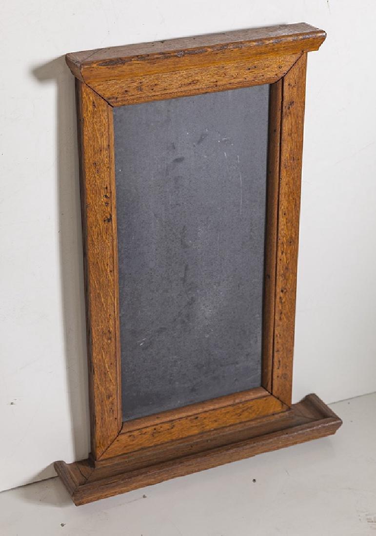 1920's Oak and slate chalkboard. - 2