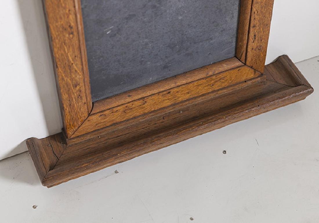 1920's Oak and slate chalkboard. - 3
