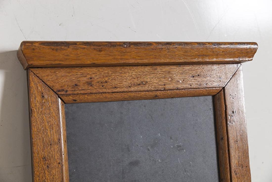 1920's Oak and slate chalkboard. - 6