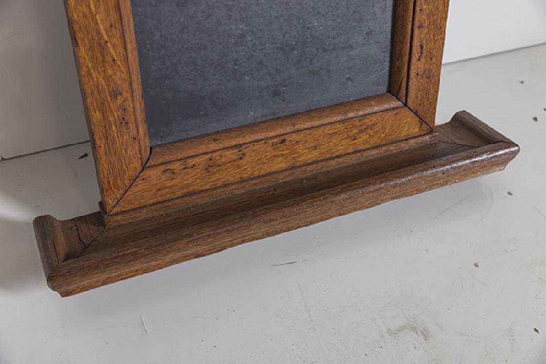 1920's Oak and slate chalkboard. - 7