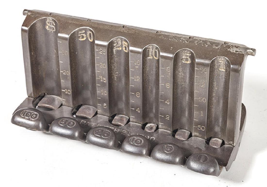 Antique Counter Top Cast Iron Coin Changer