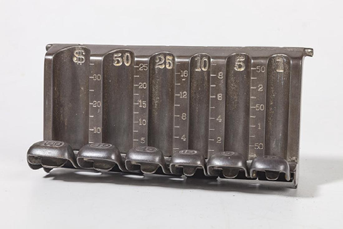 Antique Counter Top Cast Iron Coin Changer - 2