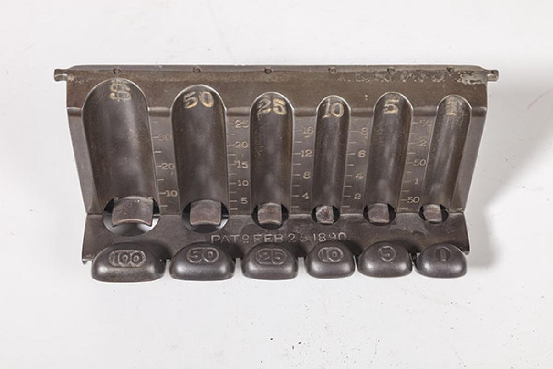 Antique Counter Top Cast Iron Coin Changer - 5