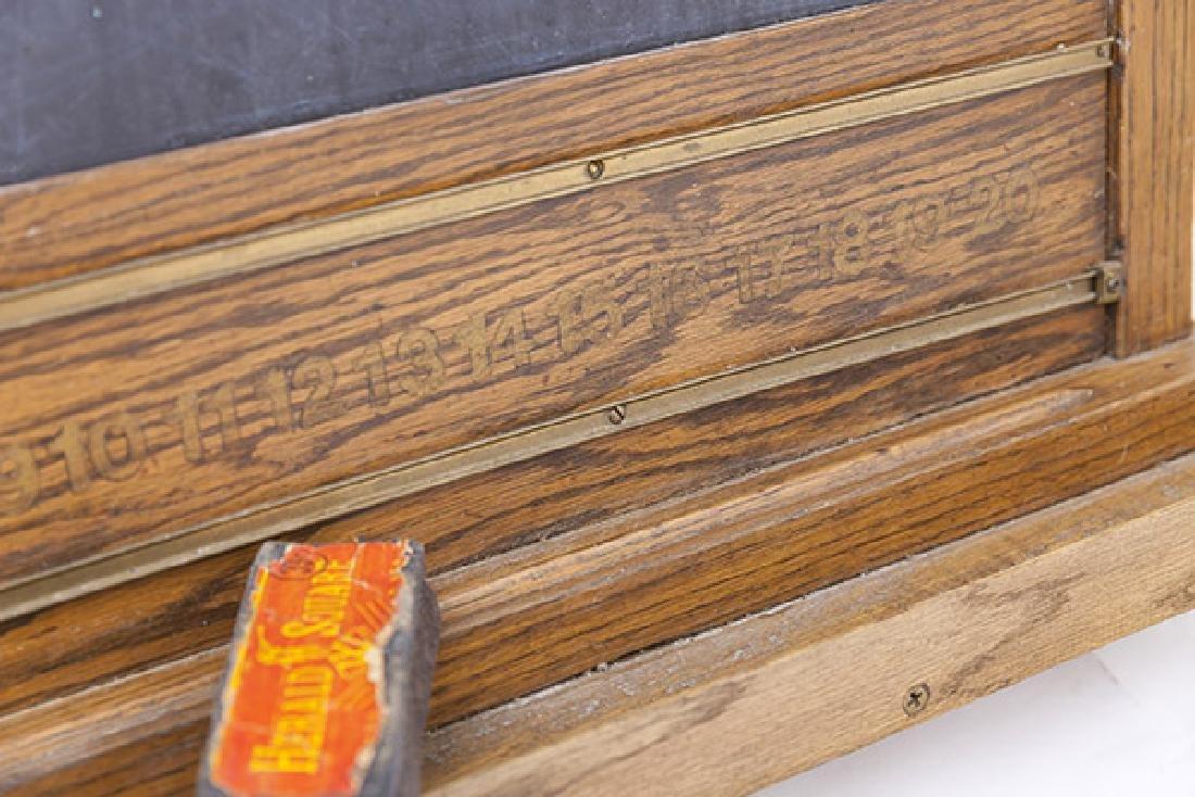 Oak Frame Chalk Board - 6