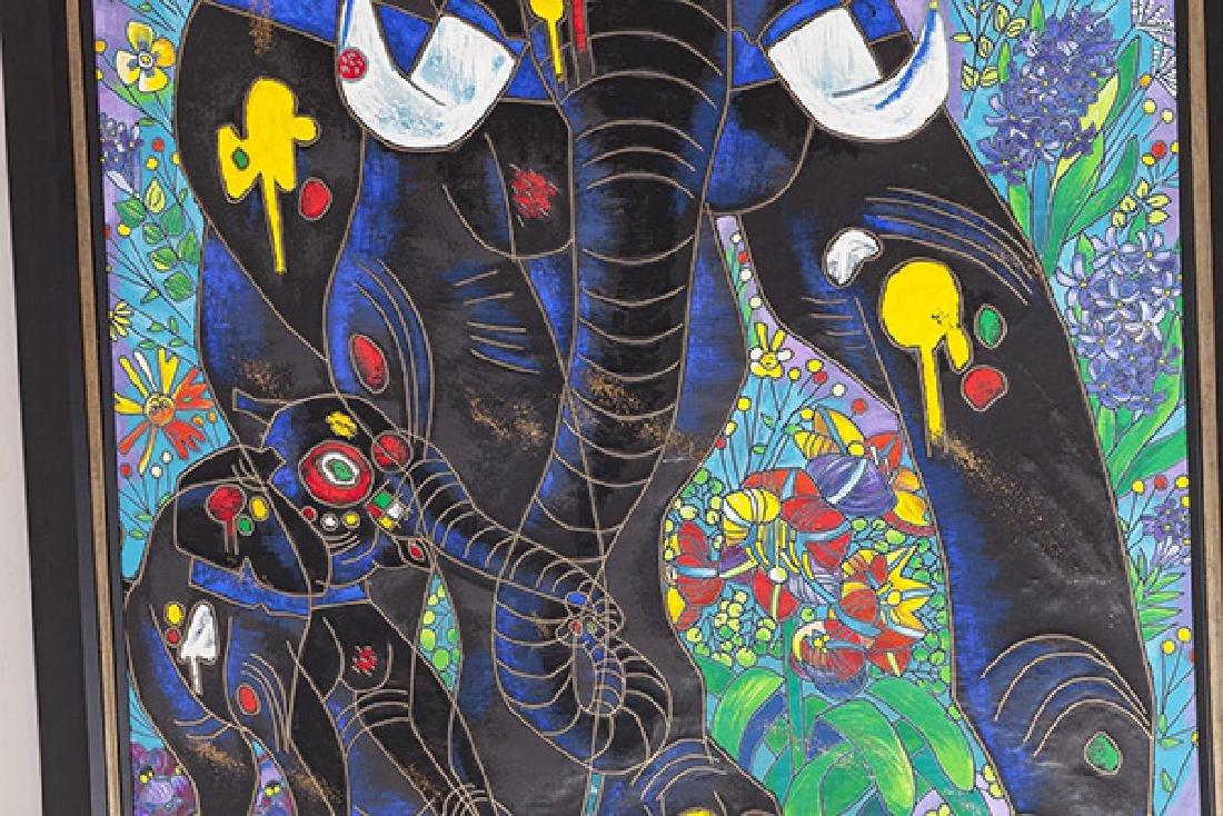Jiang Tiefeng Hand Embellished Serigraph (China B - 5