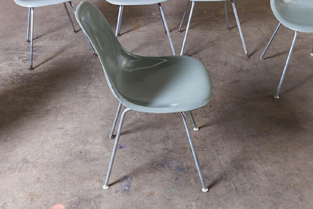Charles and Ray Eames Seafoam Green Dining Chairs - 4
