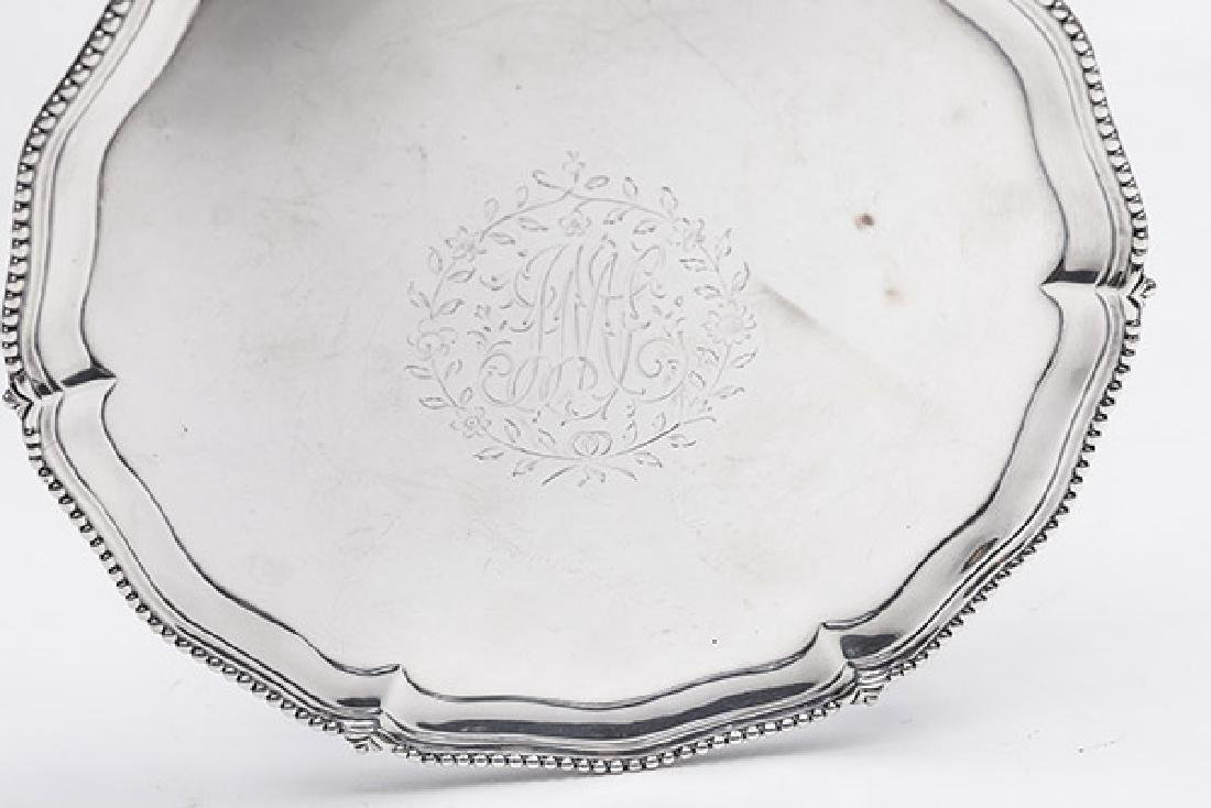 Queen Anne Sterling Footed Card Tray - 3