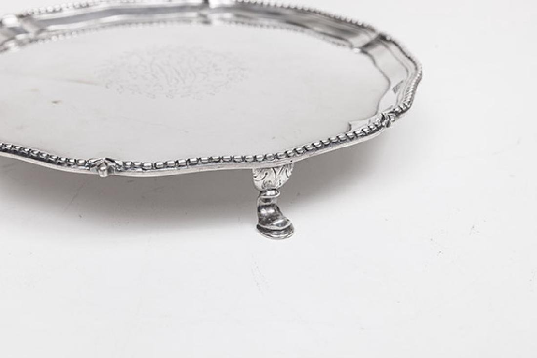 Queen Anne Sterling Footed Card Tray - 5
