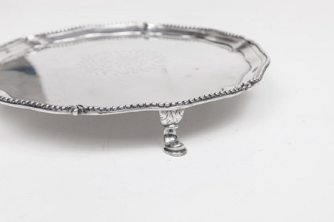 Queen Anne Sterling Footed Card Tray - 6