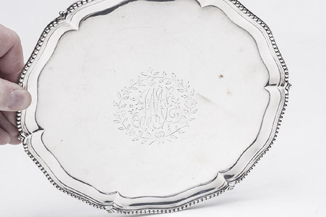 Queen Anne Sterling Footed Card Tray - 7