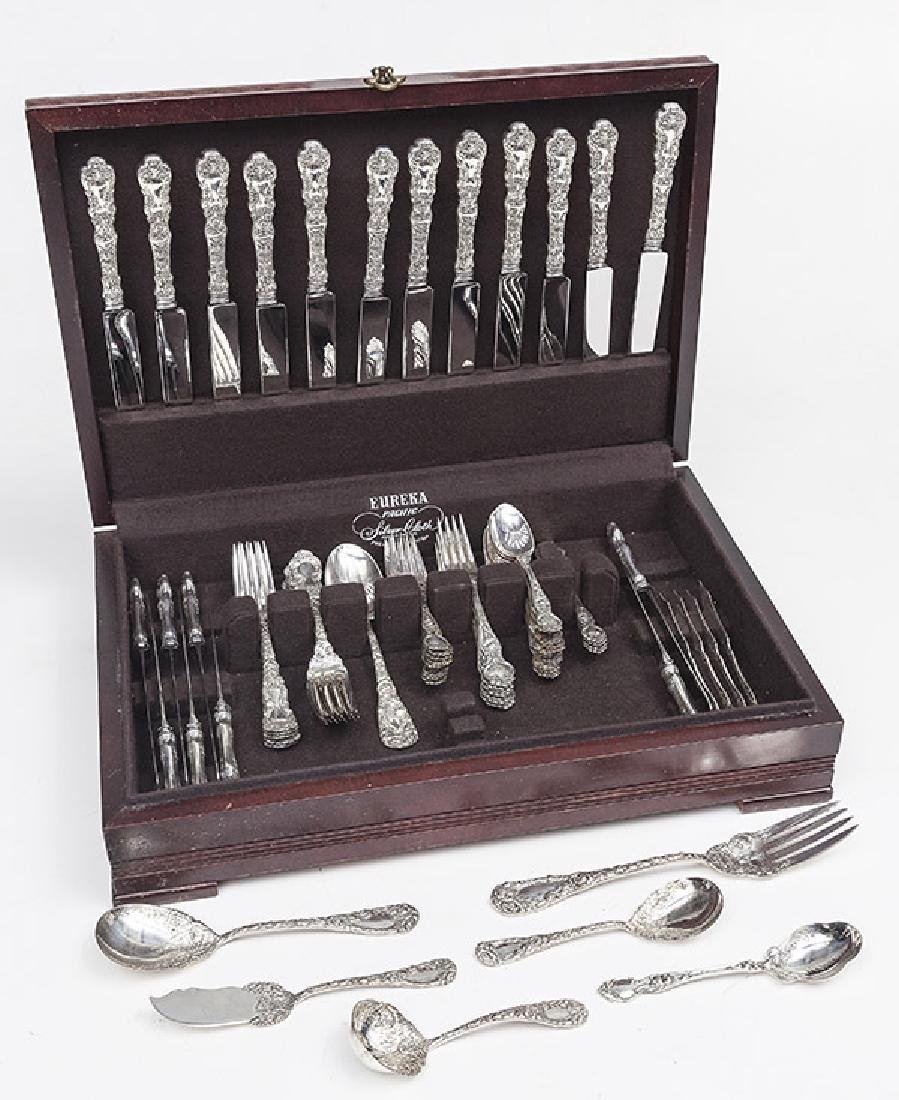 Duhme Sterling Silver Flatware, partial set, and other