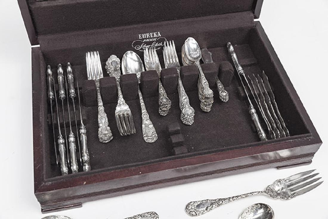 Duhme Sterling Silver Flatware, partial set, and other - 2