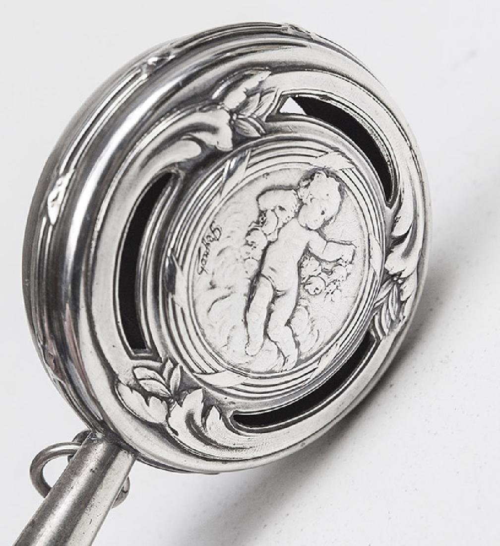 Sterling Silver Abalone Baby Rattle - 3