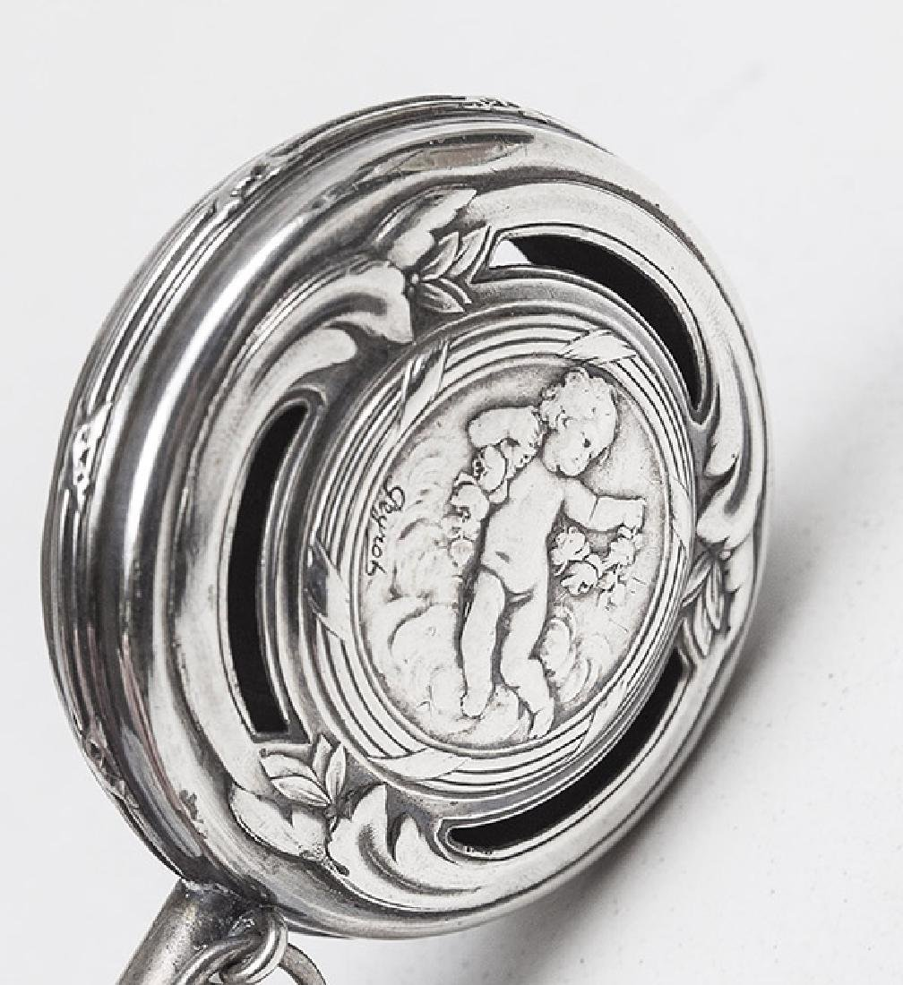 Sterling Silver Abalone Baby Rattle - 4