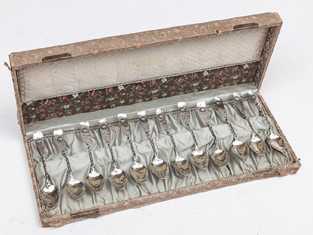 Twelve Sterling Demitasse Spoons