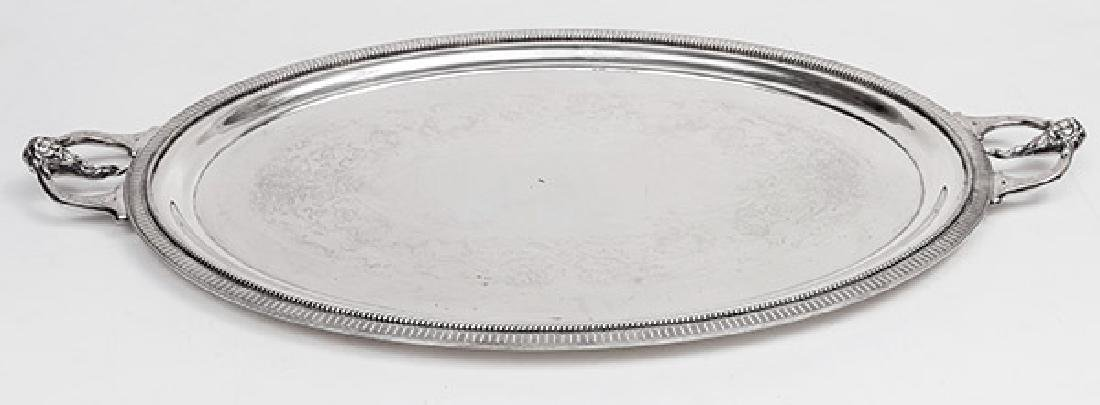 Large Silver on Copper Tray