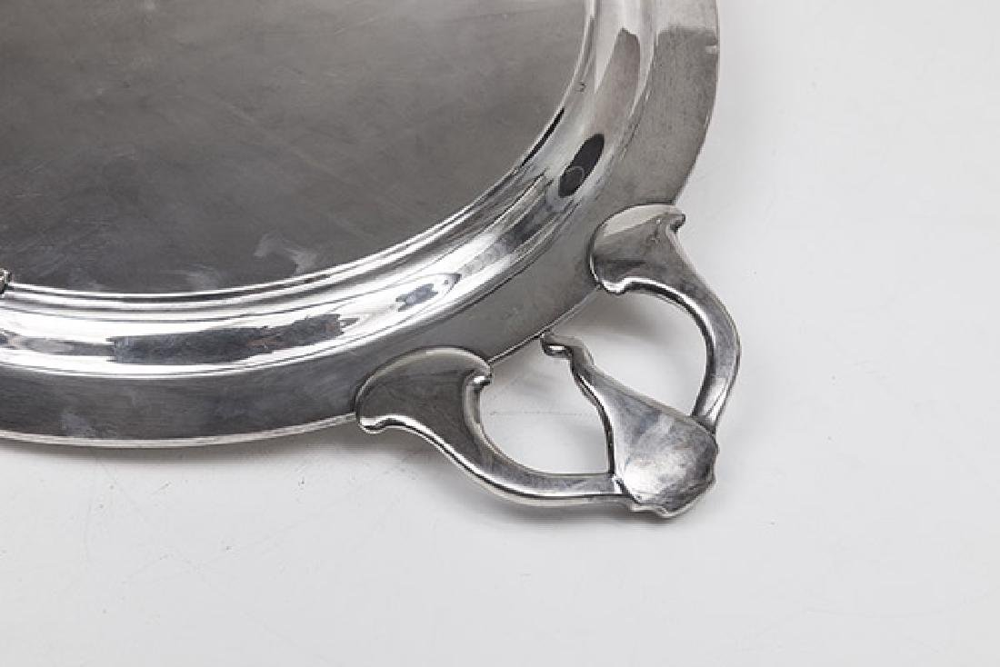 Large Silver on Copper Tray - 7