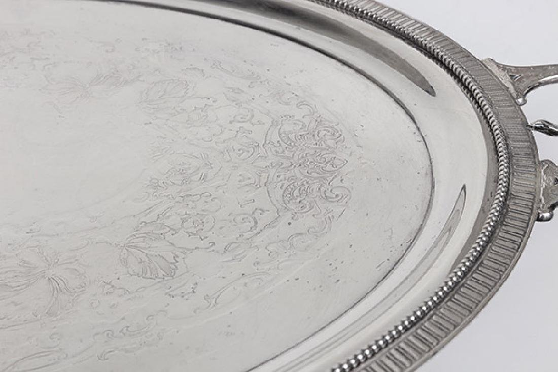 Large Silver on Copper Tray - 8